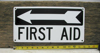 Vintage Metal First Aid Sign - Industrial Medical Sign - Hospital Sign - Free Shipping - idugitup