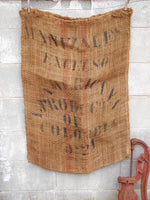 Old Coffee Sack - Colombia Manizales Excelso Sack New York Decor - idugitup
