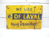 Vintage Metal Sign - DeLaval Dairy - Tractor Sign - Farm Sign - Seed Sign - Ag Sign - idugitup