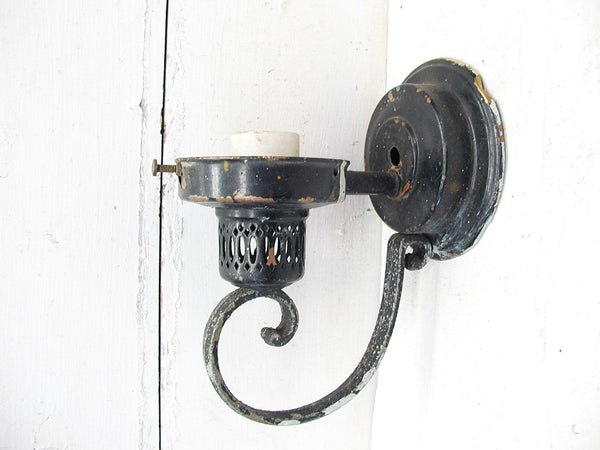 Vintage Light Fixture Wall Sconce Lamp - Gothic Style Project Piece - idugitup