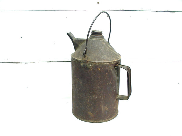 Vintage Gas Oil Can - Railroad - NYC RR New York Central Railroad - Gas Station Grungy Kerosene - idugitup