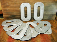 "Vintage Metal Number Zero Craft Letter ""O""  0 or Letter O - Free Shipping - 7.5"" - idugitup"