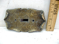 Vintage Single Scroll Pattern Switch Plate Cover Victorian Brass Verdigris Free Ship - idugitup