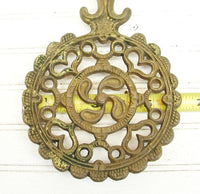 Vintage Country Kitchen Solid Brass Trivet - Farmhouse DIY Decor - idugitup
