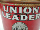 Vintage Union Leader Tobacco Tin - US Tobacco Richmond Virginia Good Color - idugitup