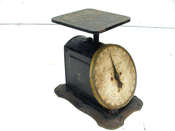 Vintage Bench Scale Great Patina Shabby Grungy Perfectly Primitive - Columbia - Landers - idugitup