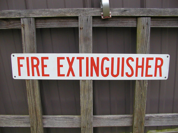"Vintage Fire Extinguisher Sign - Fire Fighter Gift Metal Sign Restoration 24"" Fire Alarm - idugitup"
