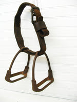 Iron English Saddle Stirrup Pair - Matched Set Horse Theme - Tack - idugitup