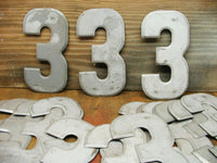"Vintage Metal Number ""3"" - Free Shipping - 7.5"" Tin Sign - DIY Project - idugitup"