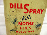 Vintage Dill Spray Can - Vintage Advertising Tins - Old Garden Shed Decor - idugitup