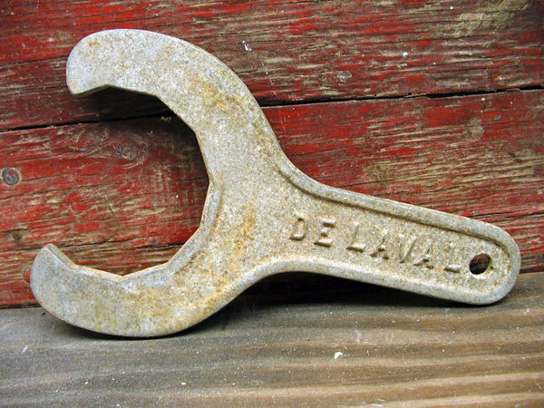 Vintage DeLaval Dairy Tank Wrench - Dairy Tools - Farm Tools - Cream - idugitup