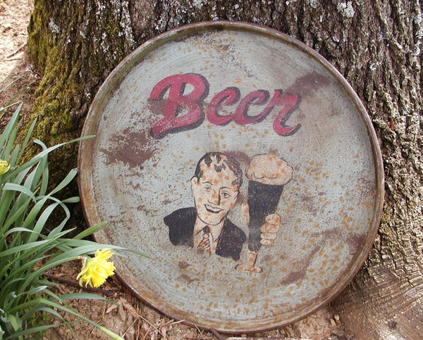 Beer Tray Sign - Huge Beer Tray - Man Cave Sign - Oversized Bar Decor - idugitup
