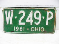 Ohio License Tag - Ohio Plate 1961 W-249-P - Man Cave Bar Decor - Free Ship - idugitup