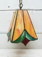 Swag Stained Glass Light - Hanging Style Lamp -Tulip Flower Design - idugitup