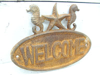 Cast Iron Welcome Sign For Your Cottage or Beach House - Beach Lover Gift - idugitup