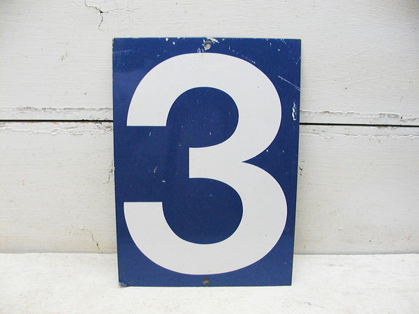Vintage Gas Station Price Sign Steel Sign Three or Eight- 2 Sided Number 3 or 8 - idugitup