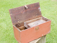 Vintage Folk Art Wooden Toolbox - Advertising Box - Apple Box - Crate Advertising - AAFA - idugitup