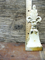 Vintage Cottage Bell - Finial Bell - White Chippy Paint - idugitup