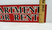 Retro Apartment for Rent Sign - Old Metal Sign - Hotel Sign - Free Shipping - idugitup
