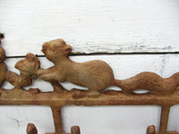 Nature Lover Gift - Rustic Lodge Decor - Squirrel Hooks - idugitup