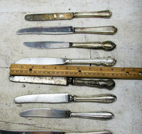 Vintage Collection Old Knives - Stainless / Silverplate Patina - Flatware for Projects - idugitup