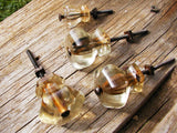 Vintage Set of Glass Knobs - Salvaged Shabby Chic Hardware - Set of 4 - idugitup