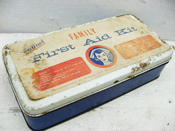 Vintage Travel First Aid Kit Packed with Goodies - Forest City Sentinel - idugitup