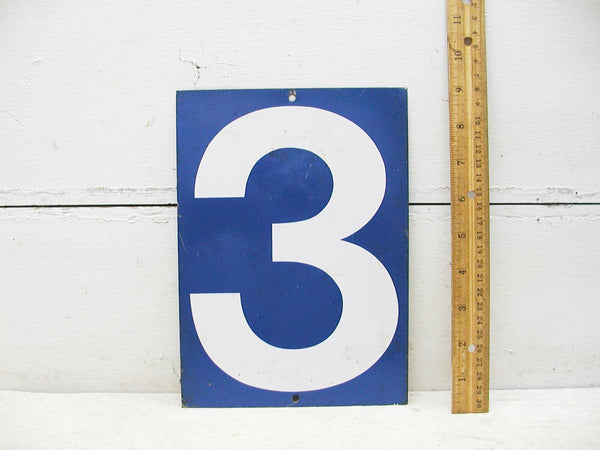 Vintage Gas Station Price Sign Number Metal Steel Sign Four - 2 Sided Number 3 or 4 - idugitup