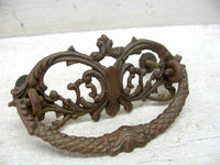 Antique Brass Victorian Style Drawer Pull - Cabinet Pull - Ornate - Antique Hardware - idugitup