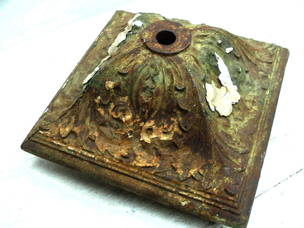 Cast Iron Fence Post Cap - Iron Salvage - Ornate Iron - Architectural Salvage - idugitup
