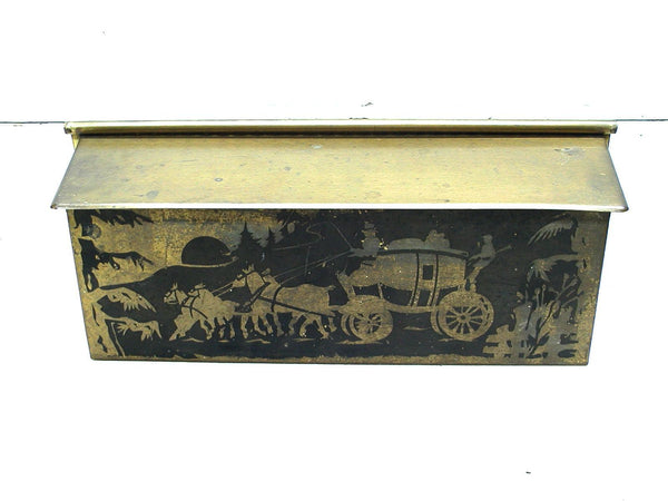 Vintage Brass Mail Box Mailbox  - Rustic Mailbox - Western Theme - Mailbox for Cabin - idugitup