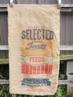 Vintage Burlap Sack - Selected Brand Feeds Mocksville NC - Free Ship - idugitup