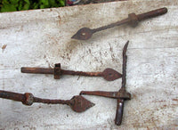 Antique Shutter Dogs - Shutter Hardware Forged Colonial Architectural Salvage - idugitup