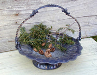 Cottage Chic Vintage Silverplate Basket - Wonderful Old Patina - idugitup