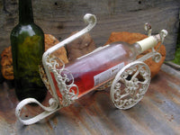 Vintage Wine Server or Pourer - French Cottage Wrought Iron - Unique Wine Caddy - idugitup
