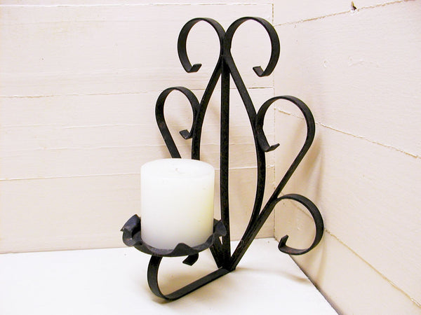 Vintage Candle Sconce - Wall Mount Candle Holder - Spanish Gothic Decor - idugitup