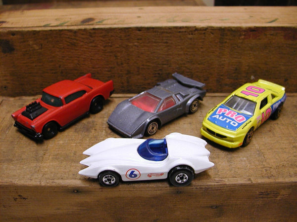 Hot Wheels   Matchbox Cars Lot of 4 - White Second Win 76 - Free Ship - idugitup