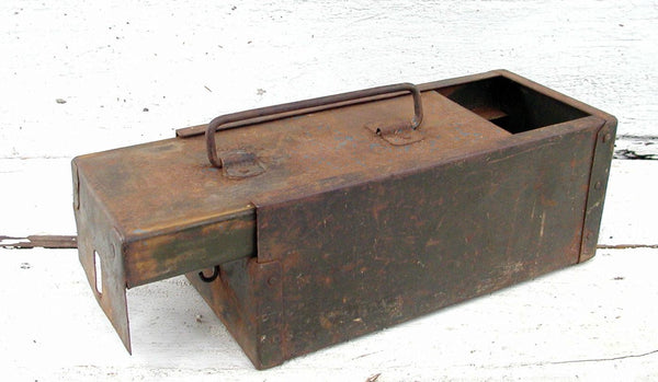 Vintage Ammo Can - Unique Ammo Can - Sliding Top Hobby Storage - idugitup