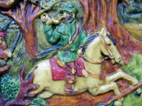 Vintage Bavarian German Wax Art Plaque - Large - idugitup