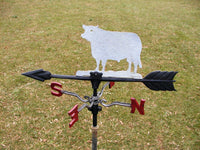 Vintage Cow Weathervane - Old Bull Weather Vane - Unique Farmhouse Decor - idugitup