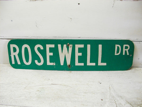 Vintage Rosewell Street Sign - Man Cave Sign - Bar Decor - idugitup