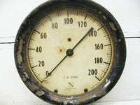 Industrial Large Ashcroft Gauge - Lamp Project Navy Ship Train - Iron and Brass - idugitup