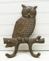 Owl Lover Gift - Owl Hook -  Cast Iron Key Hook - Owl Collector - idugitup