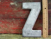 "Vintage Metal Letter Z Letter Sign 7 1/2"" Large Thick Tin Sign Marquee DIY Free Ship - idugitup"