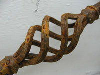 Old Ornate Iron Fence Piece Wrought Iron Fence Project Piece - More Available - idugitup