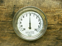 Large Brass Industrial Gauge - Pressure Vacuum - Ship Train Steampunk Marsh - idugitup