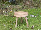 Vintage Wooden Stool - Hand Made - Farm Fresh - Milking Stool - idugitup