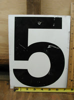 Vintage Gas Station Metal Sign Number Five or Zero - Free Shipping - idugitup