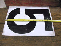 Vintage Gas Station Metal Sign Number Five Six Nine - Free Shipping