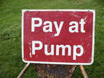 Vintage Gas Pump Sign - Petroliana - Gas Station Sign - idugitup